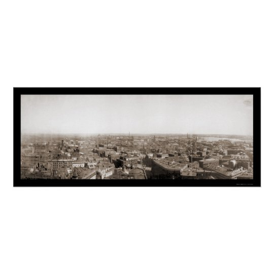 Early Boston Panview Photo 1894 Poster