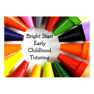 Early childhood tutoring large business card
