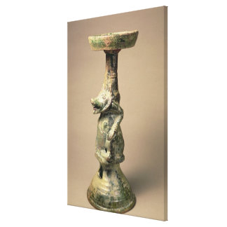 Early Chinese pottery lamp, tomb artefact Canvas Print