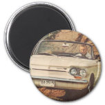 Early Corvair Convertible Fridge Magnet
