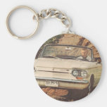 Early Corvair Convertible Keychain