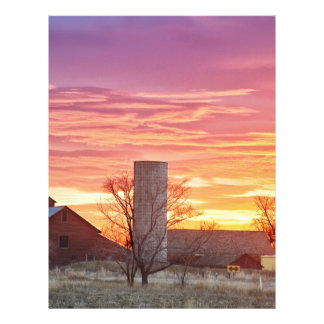 Early Country Morning Sunrise Personalized Letterhead