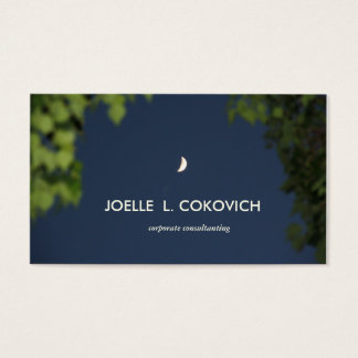 Early Crescent Moon/Nature Photography Business Card
