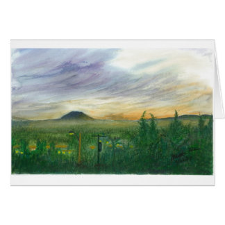 Early dawn and Mt. St. Helens Card