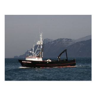 Early Dawn, Crab Boat in Dutch Harbor, AK Postcard