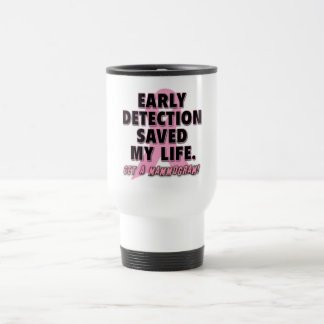 Early Detection Saves Lives Breast Cancer Design Coffee Mug