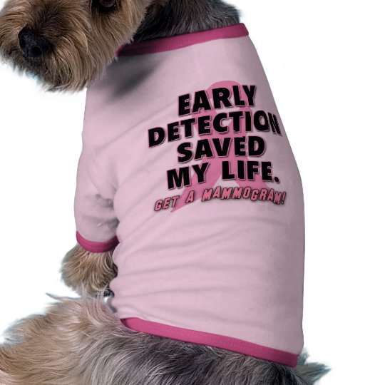 Early Detection Saves Lives Breast Cancer Design Shirt