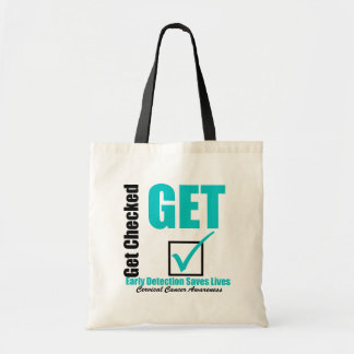 Early Detection Saves Lives - Cervical Cancer Tote Bag
