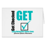 Early Detection Saves Lives - Cervical Cancer Greeting Card