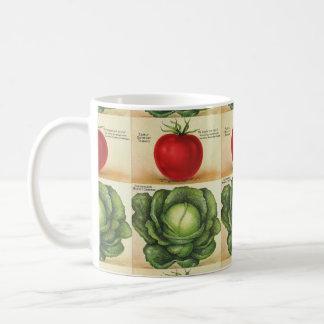 Early Detroit Tomato and Copenhagen Market Cabbage Coffee Mug