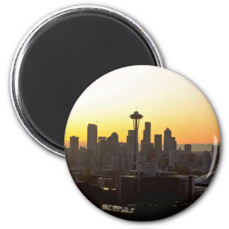 Early Evening In City Fridge Magnet