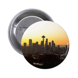 Early Evening In City Pinback Button
