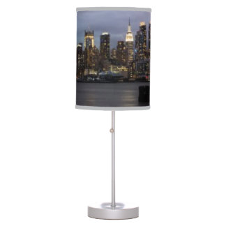 Early evening panoramic view of Manhattan Table Lamps