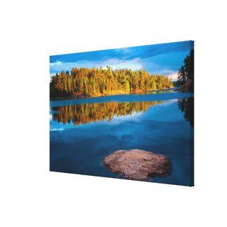 Early Evening reflections in the boundry waters Canvas Print