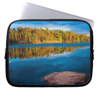 Early Evening reflections in the boundry waters Laptop Sleeve