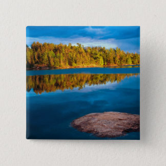 Early Evening reflections in the boundry waters Pinback Button