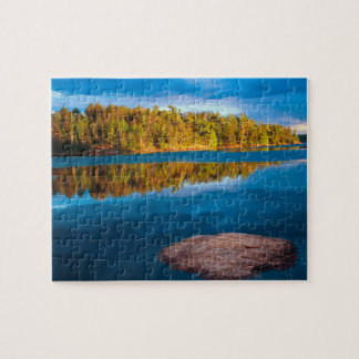 Early Evening reflections in the boundry waters Jigsaw Puzzles