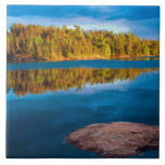 Early Evening reflections in the boundry waters Ceramic Tile