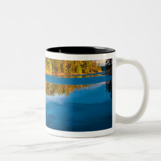 Early Evening reflections in the boundry waters Two-Tone Coffee Mug
