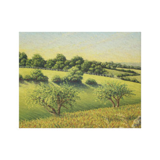 Early Evening Sun, Epsom Downs, Surrey Canvas Print