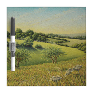 Early Evening Sun, Epsom Downs, Surrey Dry-Erase Board