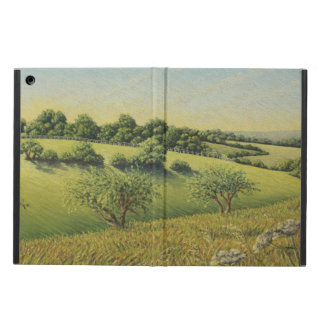 Early Evening Sun, Epsom Downs, Surrey Pastel Cover For iPad Air