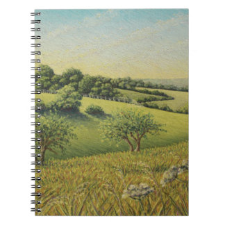 Early Evening Sun, Epsom Downs, Surrey Pastel Notebook