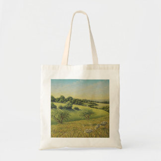 Early Evening Sun, Epsom Downs, Surrey Pastel Tote Bag