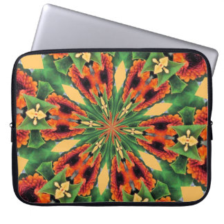 Early Fall Flowers Cheery Floral Motif Pattern Laptop Sleeve