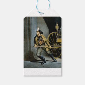 early fireman in the city gift tags