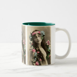 Early Flower Child Two-Tone Coffee Mug