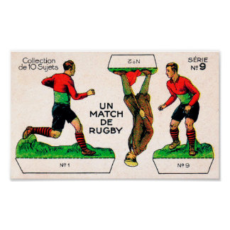 Early French Rugby Card - Print