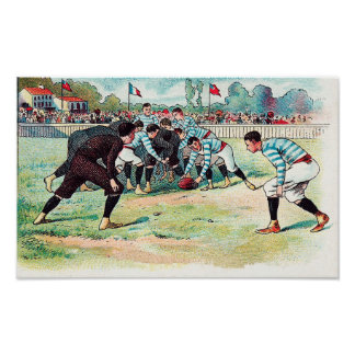 Early French Rugby Game - Print