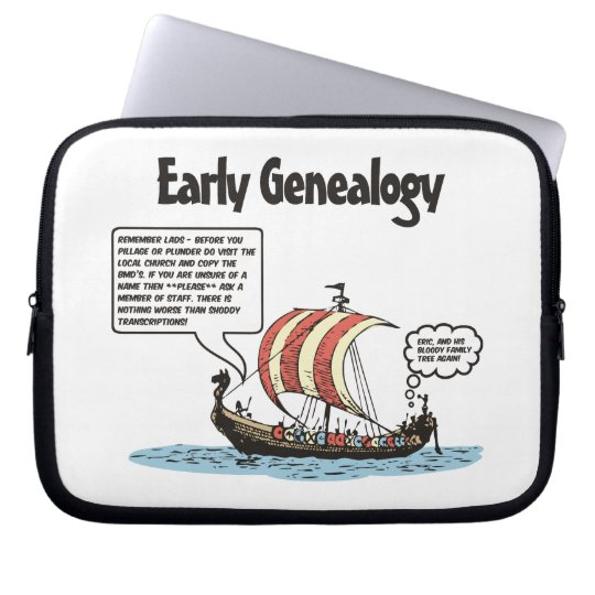 Early Genealogy Cartoon Laptop Sleeve
