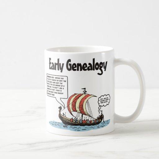 Early Genealogy Cartoon Mugs