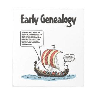 Early Genealogy Cartoon Notepad