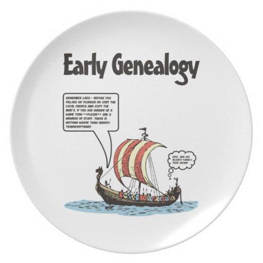 Early Genealogy Cartoon Plate