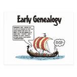 Early Genealogy Cartoon Postcard