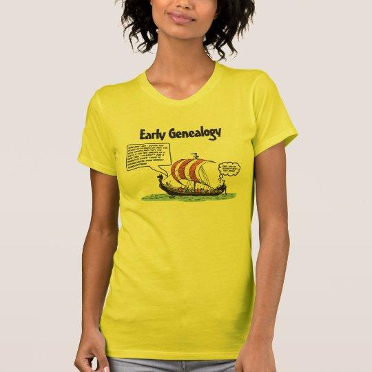 Early Genealogy Cartoon T-Shirt
