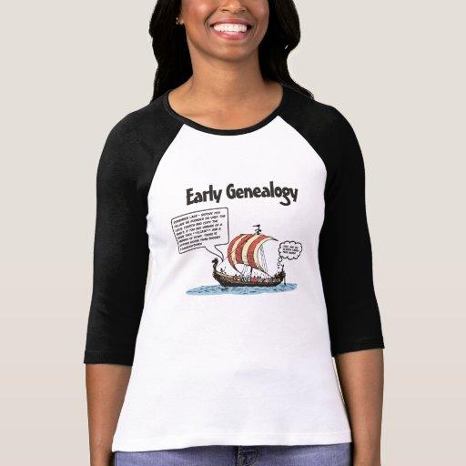 Early Genealogy Cartoon Tshirt