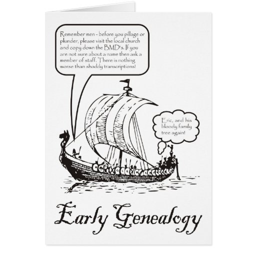 Early Genealogy Greeting Card