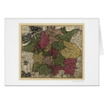 Early Germany Map 1710 Card