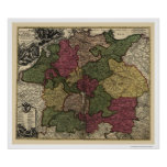 Early Germany Map 1710 Poster