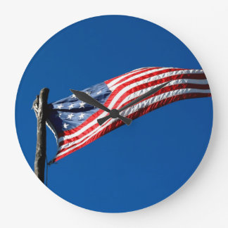 Early Historical Fort Flag Photo Wall Clock