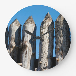Early Historical Fort Photo Wall Clock