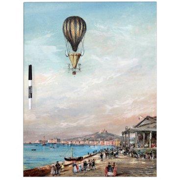 Early Hot Air Balloon Lake Europe Dry Erase Board