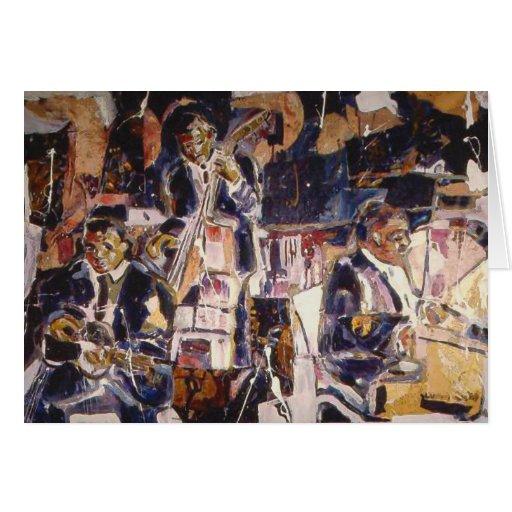 Early Jazz Music Art Card