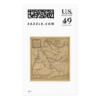 Early Kentucky Map - 1784 Stamps