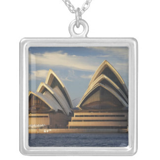 Early Light on Sydney Opera House, Sydney, New Square Pendant Necklace