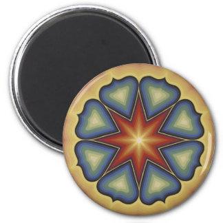 Early mandala 1 2 inch round magnet